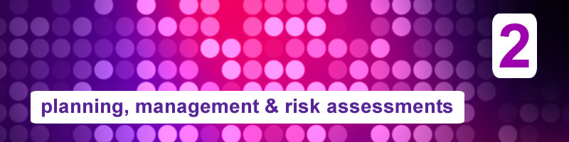 2. Planning, Management & Risk Assessments