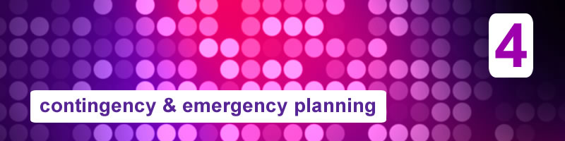 4. Resilience activities for events (Contingency & Emergency Planning)